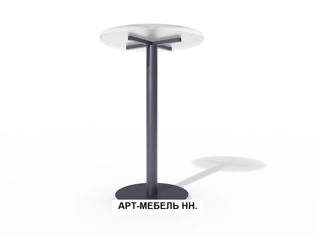 Подстолья для столов.: Подстолье барное 0.34 (чёрный) в АРТ-МЕБЕЛЬ НН