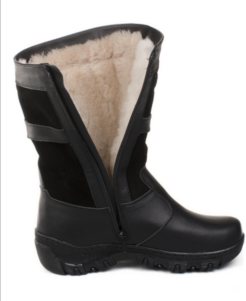 Обувь подростковая и детская: Сапоги подростковые. Черные. Натуральная кожа, замша. Молния. в Сельский магазин