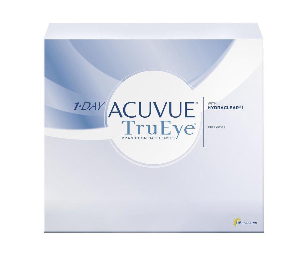 Контактные линзы: Контактные линзы 1-Day Acuvue TruEye (180 шт. / 9.0) Johnson & Johnson в Лорнет