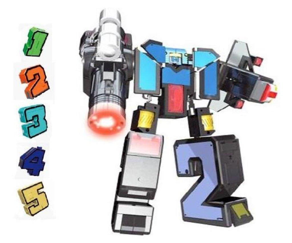 Игрушки для мальчиков: 1Toy Трансботы XL Боевой расчет Т13534 ВКС (цифры от 1-5). Собирается в большого Космобота. в Игрушки Сити