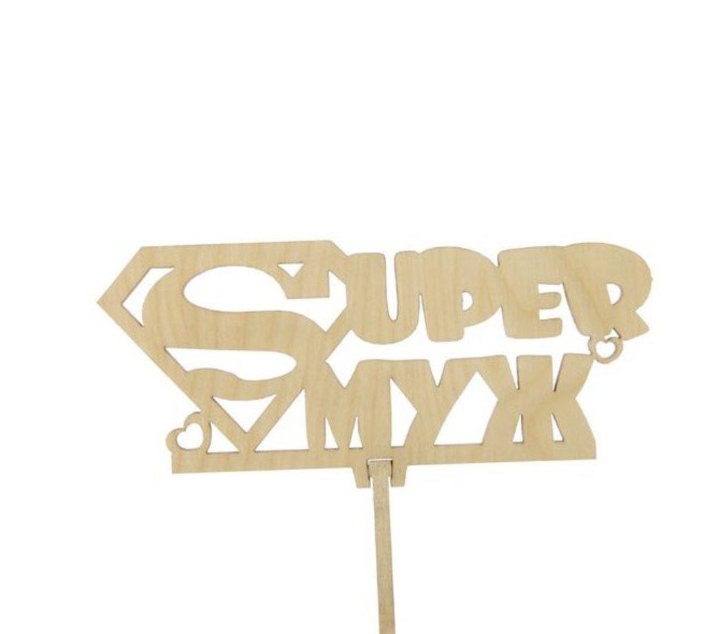 Украшения, декор: Топпер Супер муж в ТортExpress