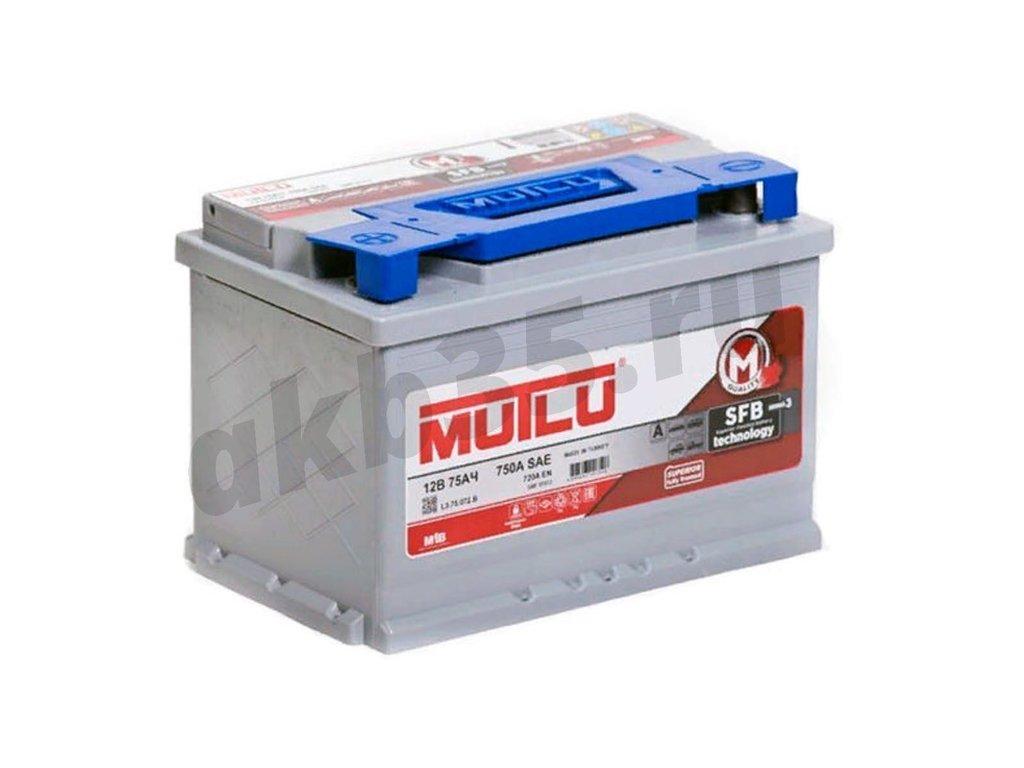 Аккумуляторы: MUTLU 75 А/ч Обратный SFB в Планета АКБ