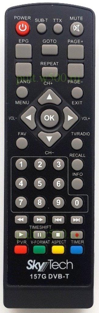 SkyTech: Пульт SkyTech 157G верс.1  Вымпел (DVB-T2) оригинал в A-Центр Пульты ДУ