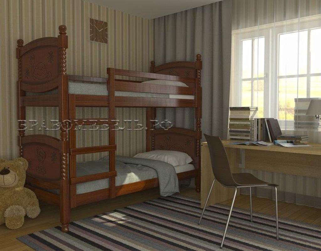 Детская двухъярусная кровать Валерия: Детская двухъярусная кровать Валерия в Уютный дом