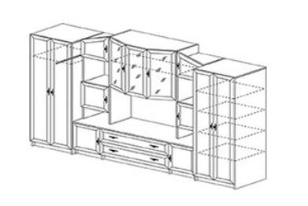 Гостиные: Гостиная Макарена-Люкс (модульная система) в Уютный дом