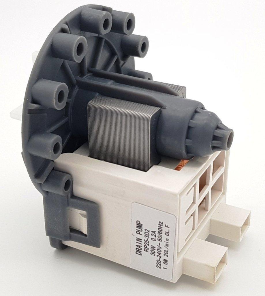 Насосы сливные для стиральных и посудомоечных машин: Насос слива 30w,, крепление 3 винтами, подключение сзади, клеммы раздельно, старого типа (широкий магнитопровод,, обмотка медь), КИТАЙ, 10ma50, 63AB512, 49001619u, `AV5453, OAC301531, OAC301530, OAC144997, `AV54516, PMP520UN, PMP007UN, PMP000U, RP25-3D2 в АНС ПРОЕКТ, ООО, Сервисный центр