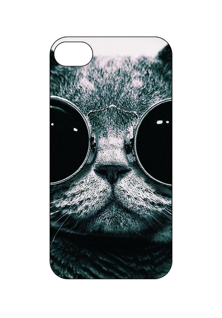 Выбери готовый дизайн для своей модели телефона: Кошак в NeoPlastic