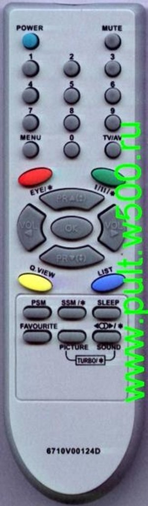 LG: Пульт LG 6710V00124D (TV) HUAYU в A-Центр Пульты ДУ