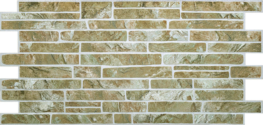 Панели ПВХ: Камень Сланец зеленый в Мир Потолков