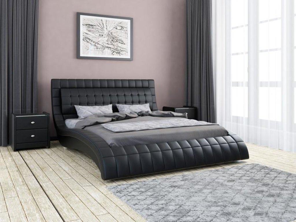 Кровати: Кровать двойная из экокожи Вирджиния в Уютный дом