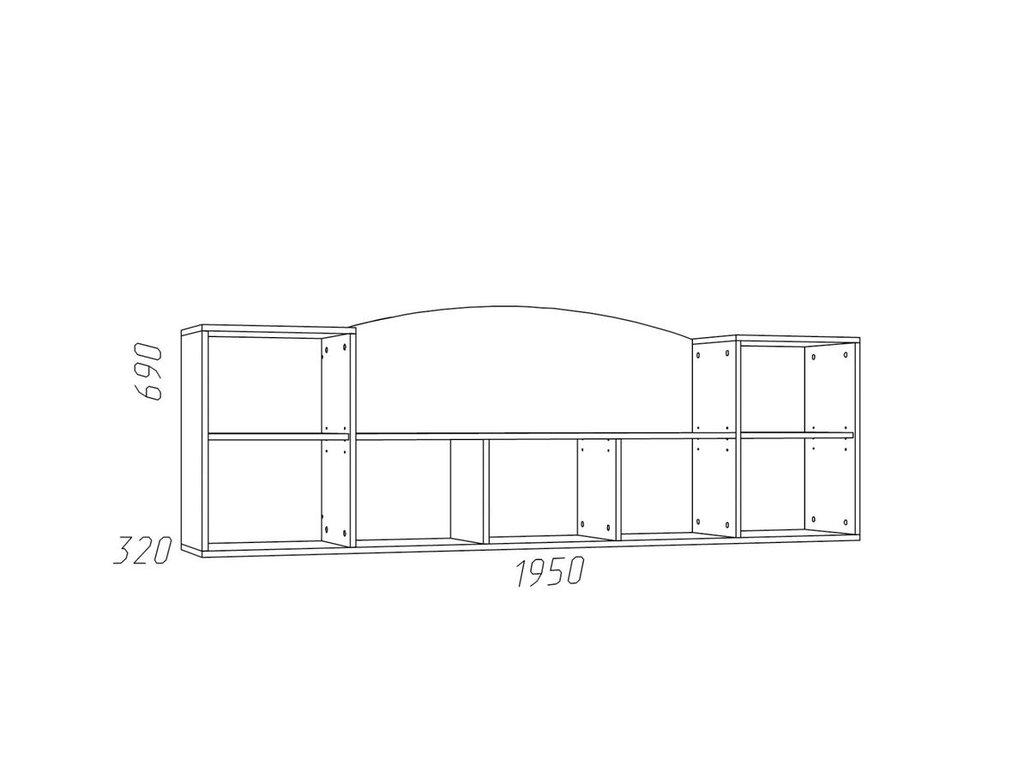 Полки детские: Полка навесная НМ 011.39 Прованс в Стильная мебель