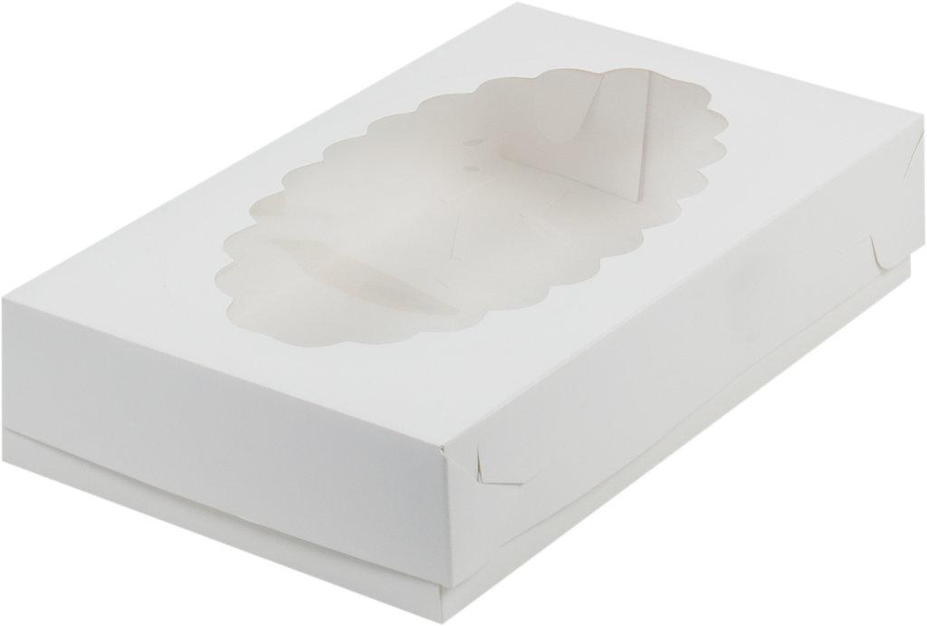 Коробки для кондитерских изделий: Коробка для эклеров с окном  размер 240х140х50мм в ТортExpress