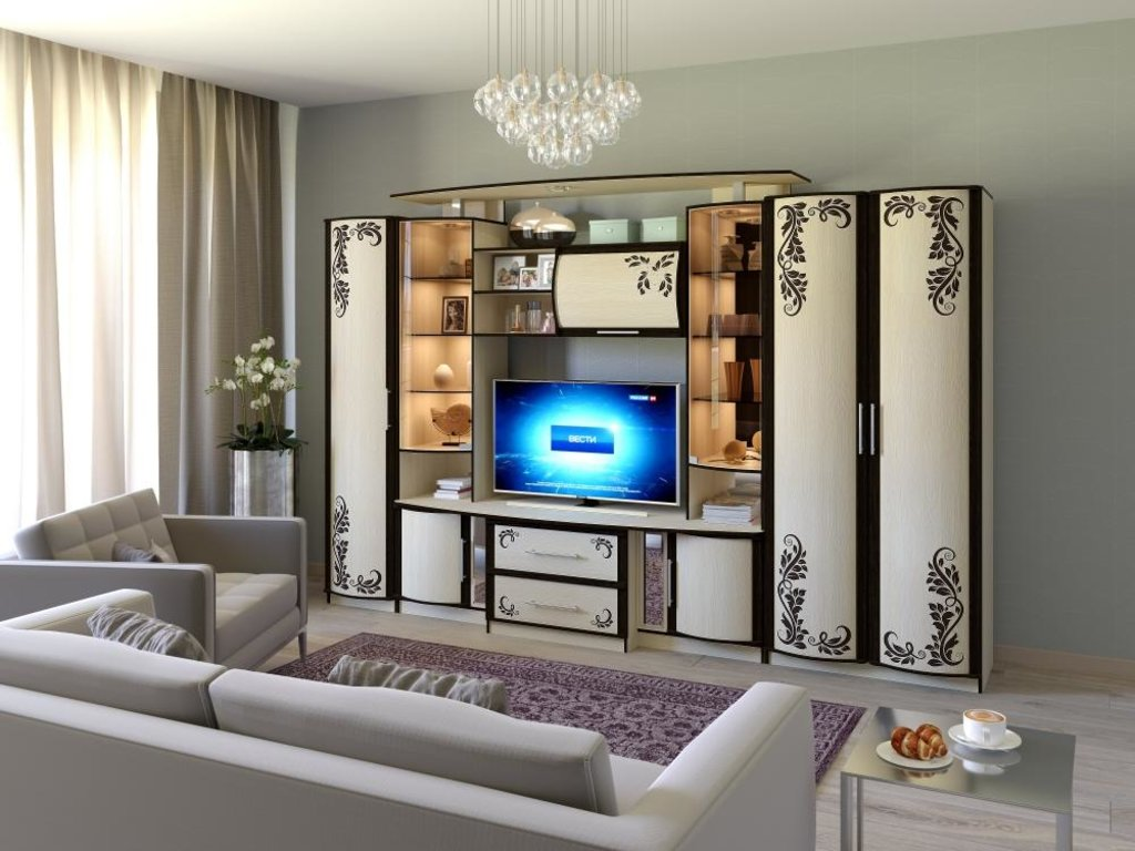 Модульная мебель в гостиную Кристина 3 фотопечать: Модульная мебель в гостиную Кристина 3 фотопечать в Стильная мебель