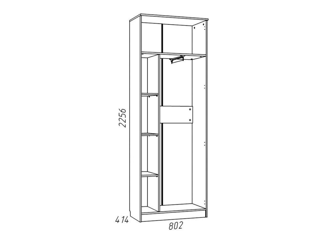 Детские шкафы и стеллажи: Шкаф для одежды НМ 013.02-02 Рико в Стильная мебель