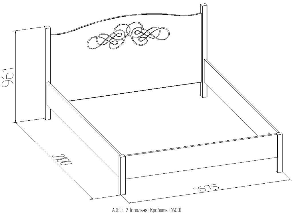 Кровати: Кровать ADELE 2 (1600, орт. осн. дерево) в Стильная мебель