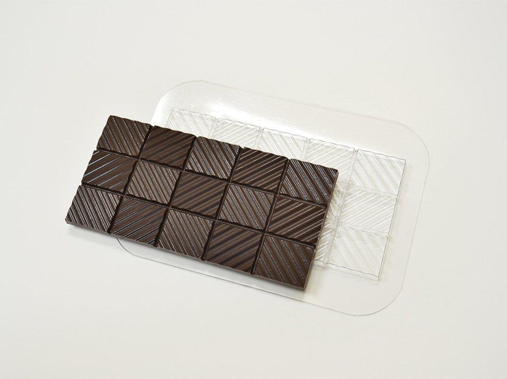 Пластиковые формы для шоколада: Форма для шоколада Плитка Волны в ТортExpress