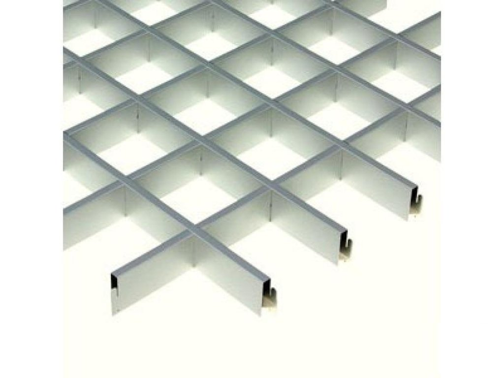 Потолки грильято: Подвесной потолок грильято 100х100 ( выс.30/шир.5) Эконом металлик А907 rus в Мир Потолков