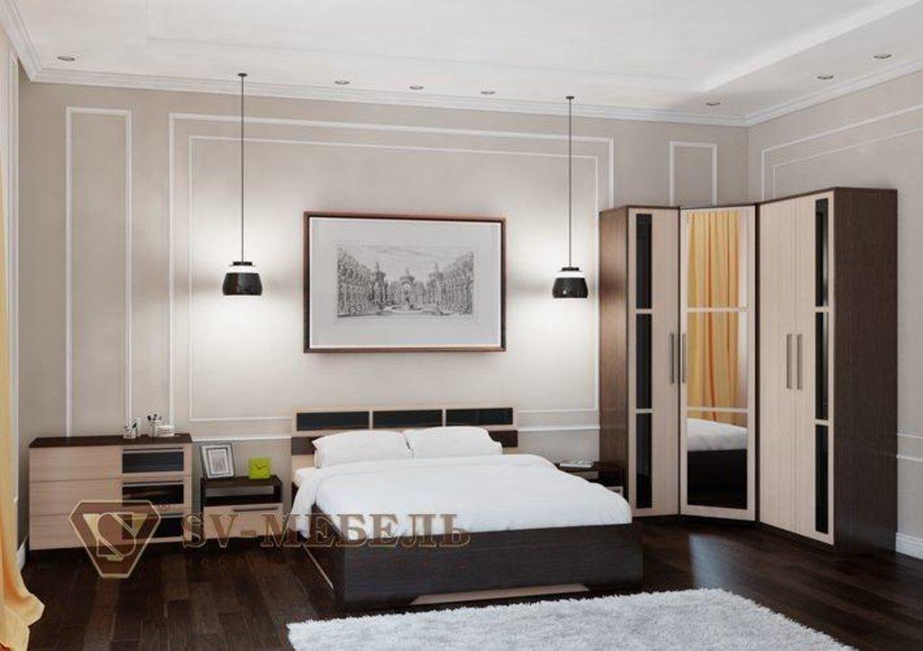 Мебель для спальни Эдем-2: Кровать двойная (Без матраца 1,4*2,0; 1,6*2,0) Эдем-2 в Диван Плюс