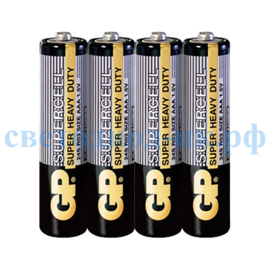 Батарейки: Элемент питания GP R03 SUPER CELL в СВЕТОВОД