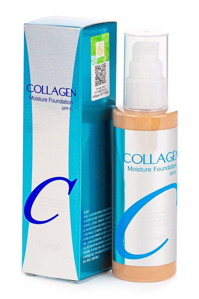 Тональный крем, BB крем: ENOUGH  Тональный крем  Moisture foundation collagen spf 15,100 мл в Мой флакон