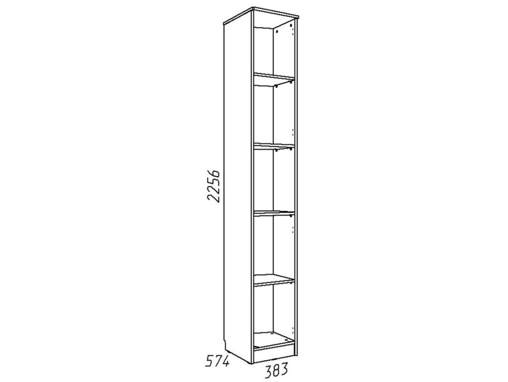 Детские шкафы и стеллажи: Шкаф скошенный НМ 013.05-01 ПР Акварель в Стильная мебель