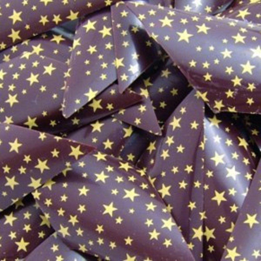 Шоколадный декор: Переводной лист Золотые звезды в ТортExpress