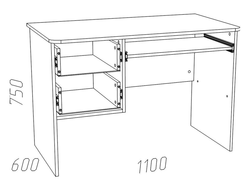Компьютерные столы: Стол для компьютера НМ 009.19-05 Фанк в Стильная мебель