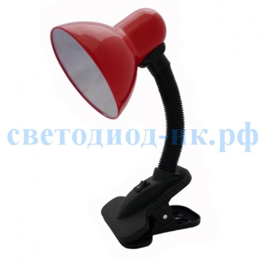 Настольные лампы, ночники: Лампа настольная красная на прищепке в СВЕТОВОД