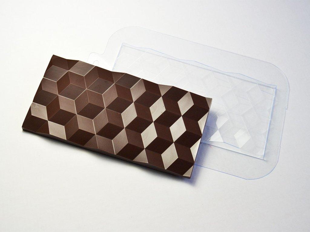 Пластиковые формы для шоколада: Форма для шоколада Плитка Кубики в ТортExpress
