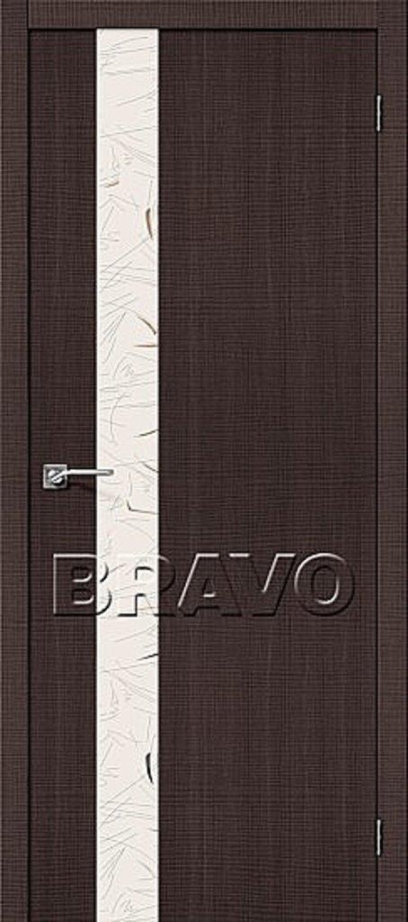 Двери экошпон BRAVO: Порта-51 SA Wenge Crosscut в STEKLOMASTER