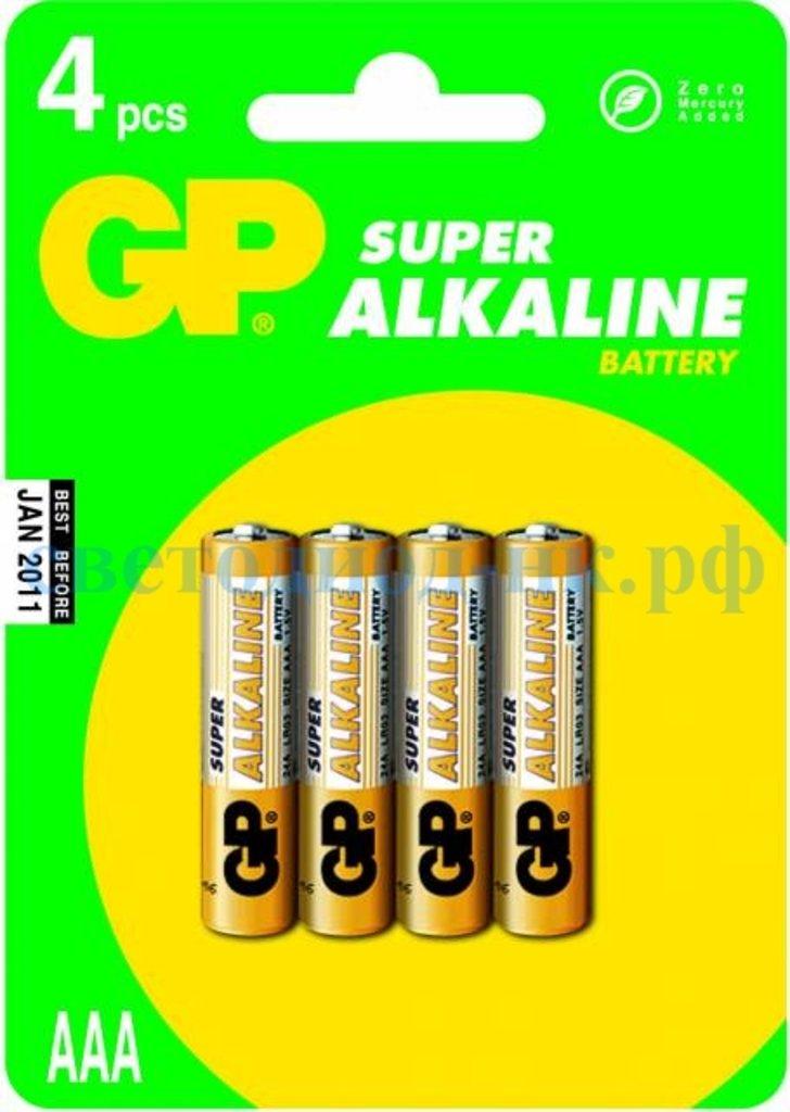 Элементы питания: Элемент питания GP LR03 SUPER ALKALINE в СВЕТОВОД