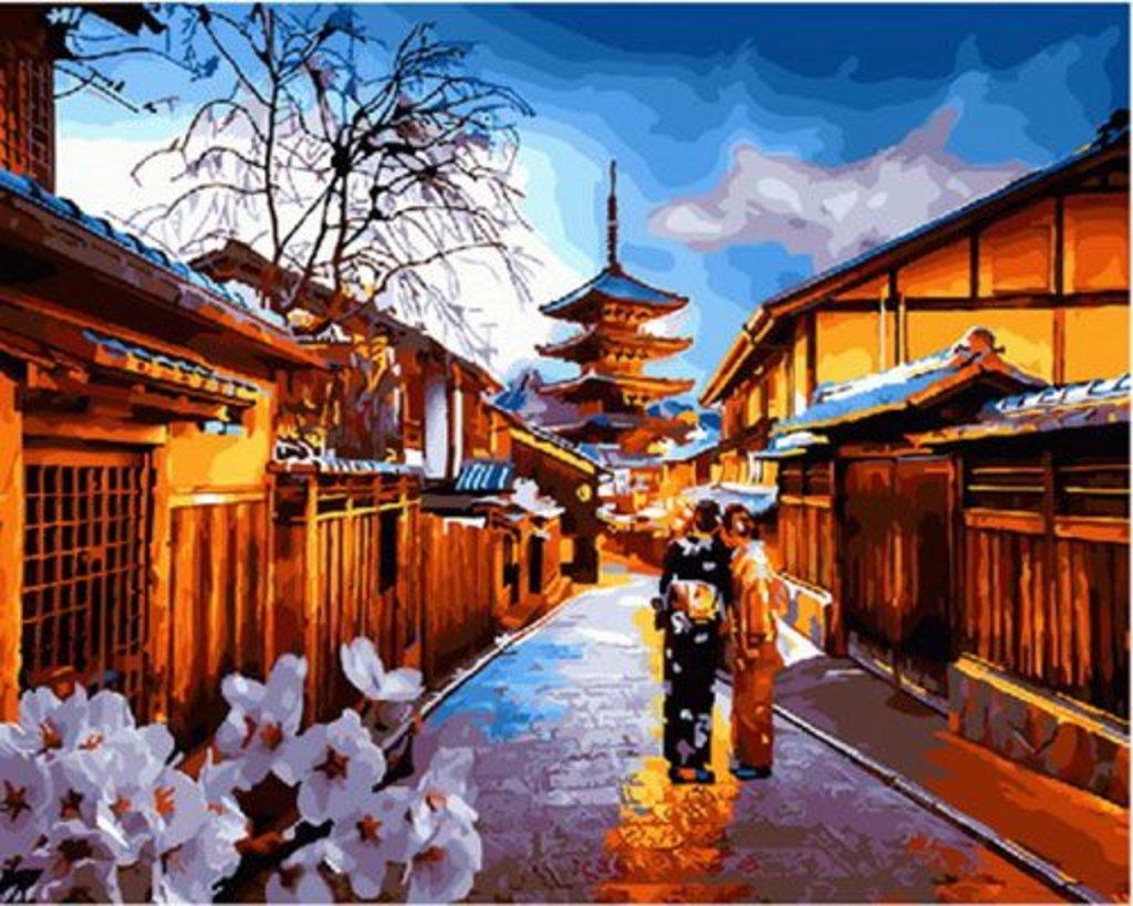 Картины по номерам: Картина по номерам Paintboy 40*50 Японский вечер GX29925 в Шедевр, художественный салон