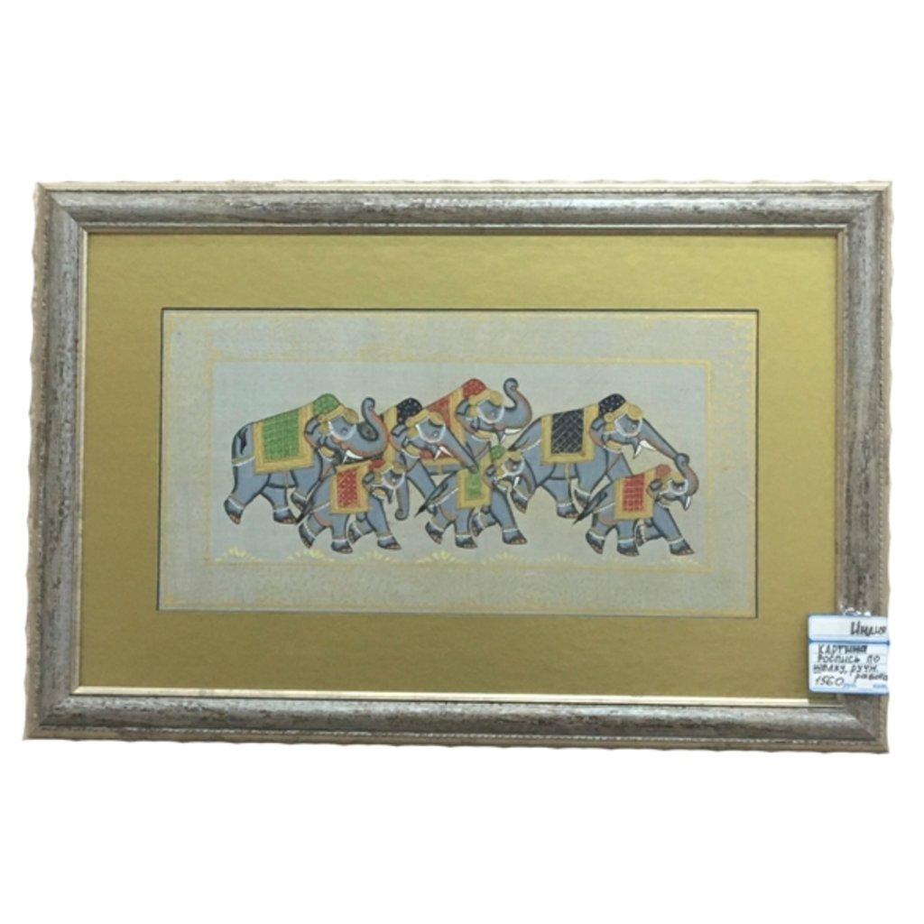 """Панно, картины: Картина """"Слоны"""" в Шамбала, индийская лавка"""