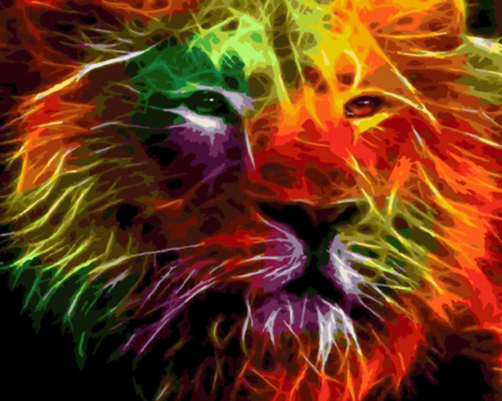 Картины по номерам: Картина по номерам Paintboy 40*50 Искрящийся лев GX4605 в Шедевр, художественный салон