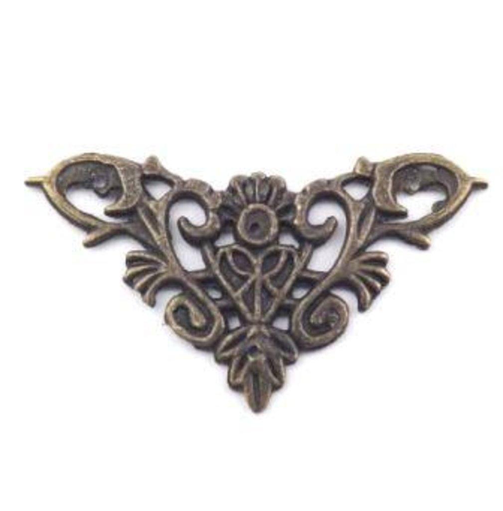 Шкатулки: Накладной элемент бронза 35*35мм ШНМ111 1шт в Шедевр, художественный салон