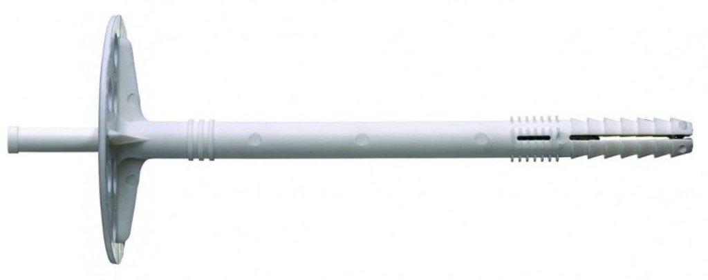 Дюбель гвоздь для теплоизоляции: Дюбель для теплоизоляции с пласт.гвоздем 10*160 (200 шт) в АНЧАР,  строительные материалы