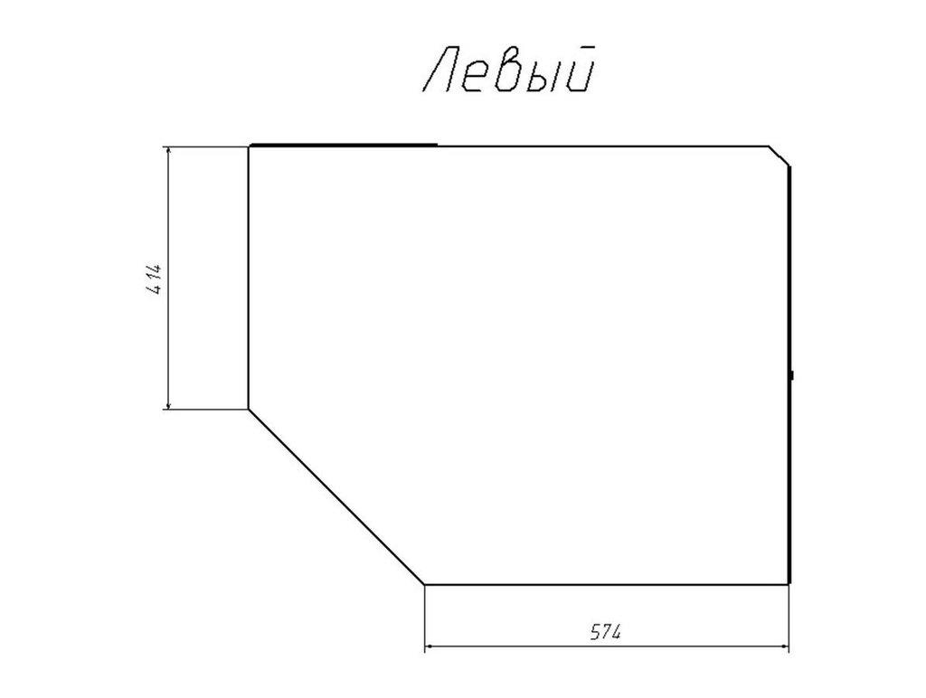 Детские шкафы и стеллажи: Шкаф угловой левый НМ 013.04-02 ЛВ Рико в Стильная мебель