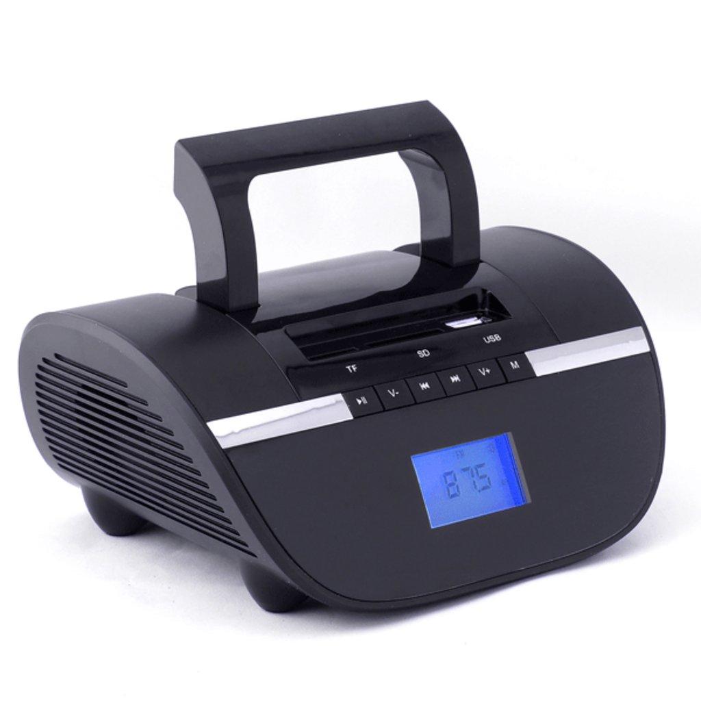 Радиоприёмники: Perfeo мини-аудио STILIUS BT, FM, MP3 USB/SD, часы-будильник, USB/600mAh, черный (i350PRO-BK) в A-Центр Пульты ДУ