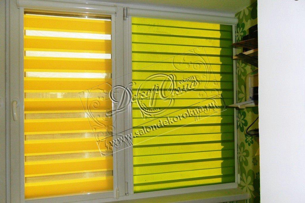 Рулонные шторы: Рулонные шторы Зебра в Декор окна, салон