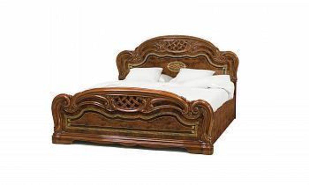 Кровати: Кровать 1,8 с решеткой орех Лара в Стильная мебель