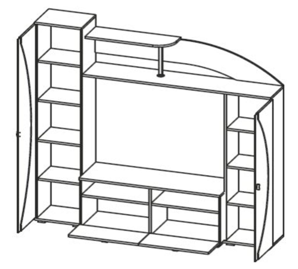Мебель для гостиных, общее: Стенка Олимп - М08 в Стильная мебель