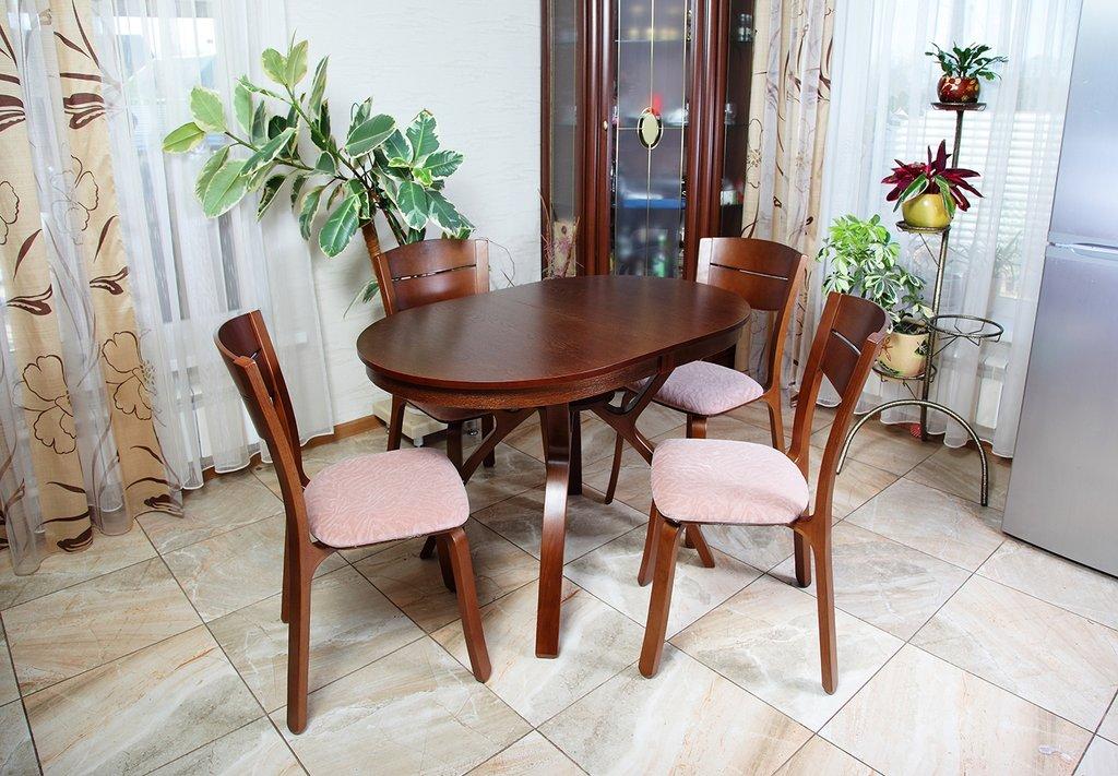 Столы деревянные: Стол Мадрид О 1160 раскладной. в АРТ-МЕБЕЛЬ НН