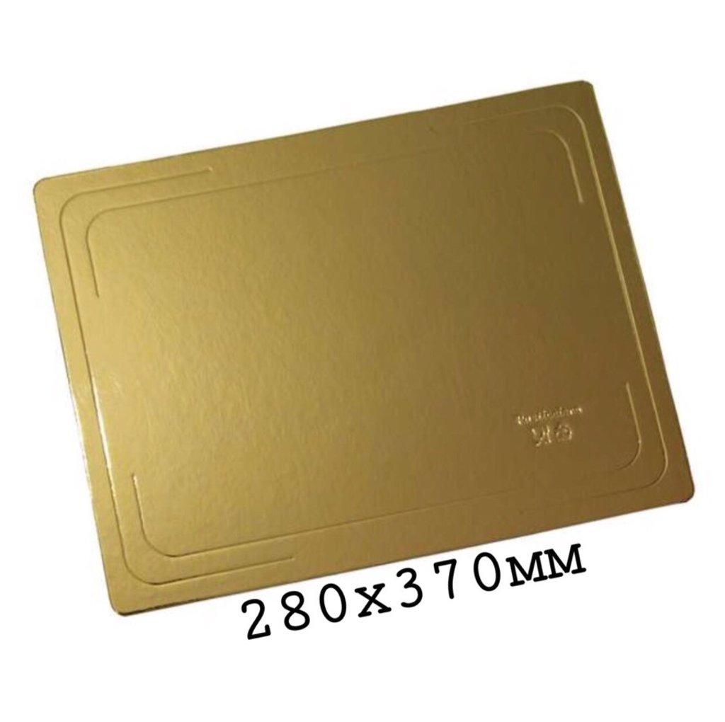 Салфетки, подложки: Подложка  280х370мм  (Под коробку ЦИФРА ) 3.2мм золото/жемчуг в ТортExpress