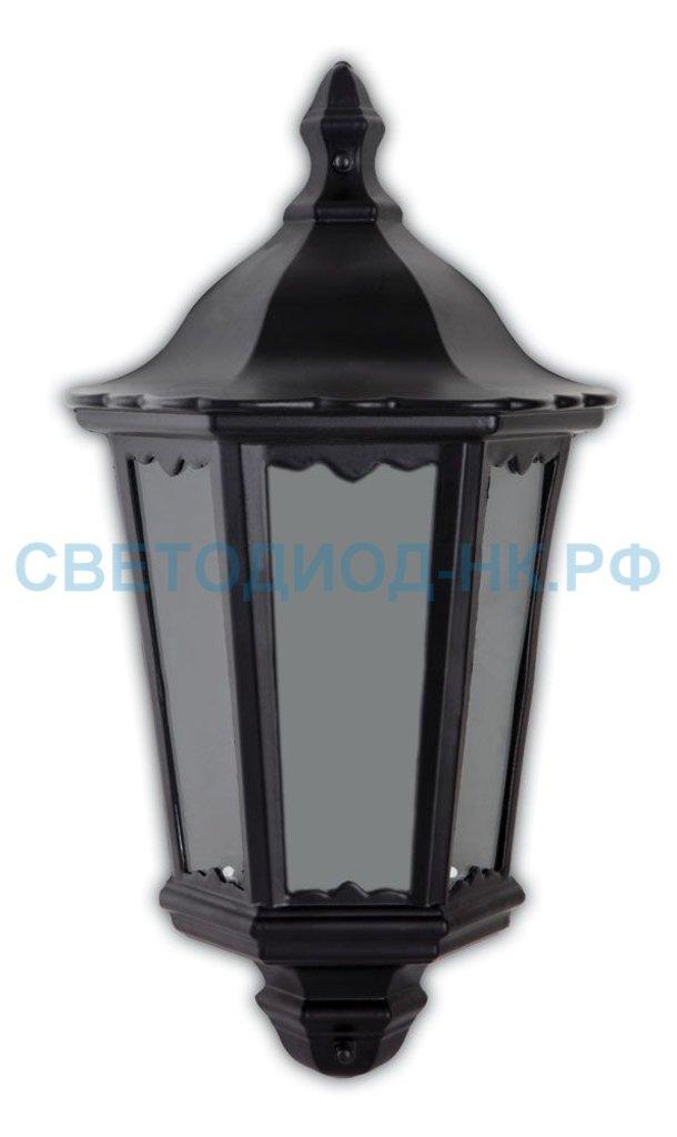 Садово-парковые светильники: 6206 60W 230V E27 240*110*435MM черный (половинка на стену) в СВЕТОВОД