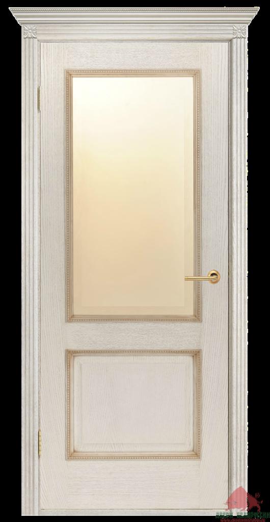Двери Белоруссии  шпонированые: Гранд (слоновая кость) в STEKLOMASTER