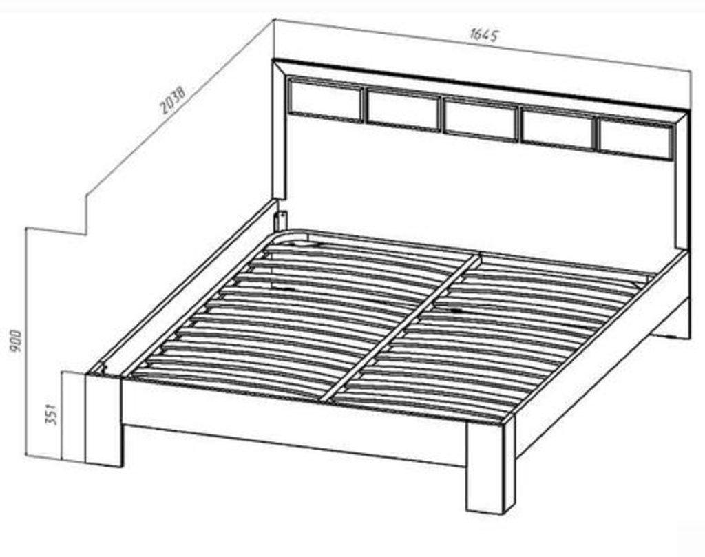 Мебель для спальни  Венеция. Модульная серия.: Кровать 2-х спальная 1600 Венеция в Уютный дом