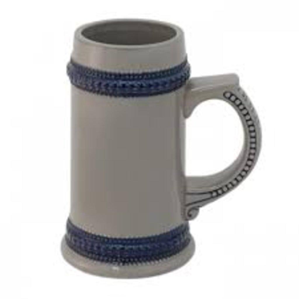 Пивные кружки-заготовки: Кружка пивная керамическая с голубой каемкой в NeoPlastic