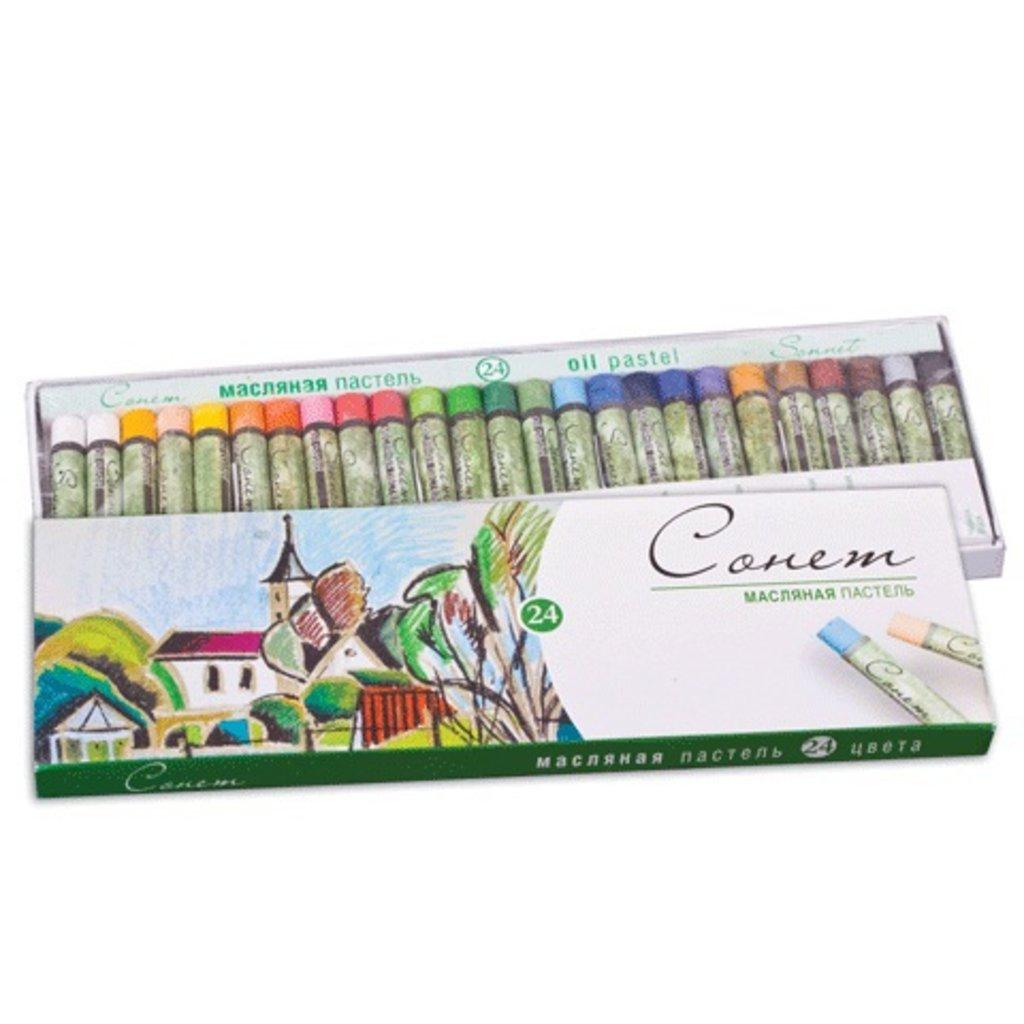 Пастель: Пастель Сонет масляная пастель, 24 цвета в Палитра
