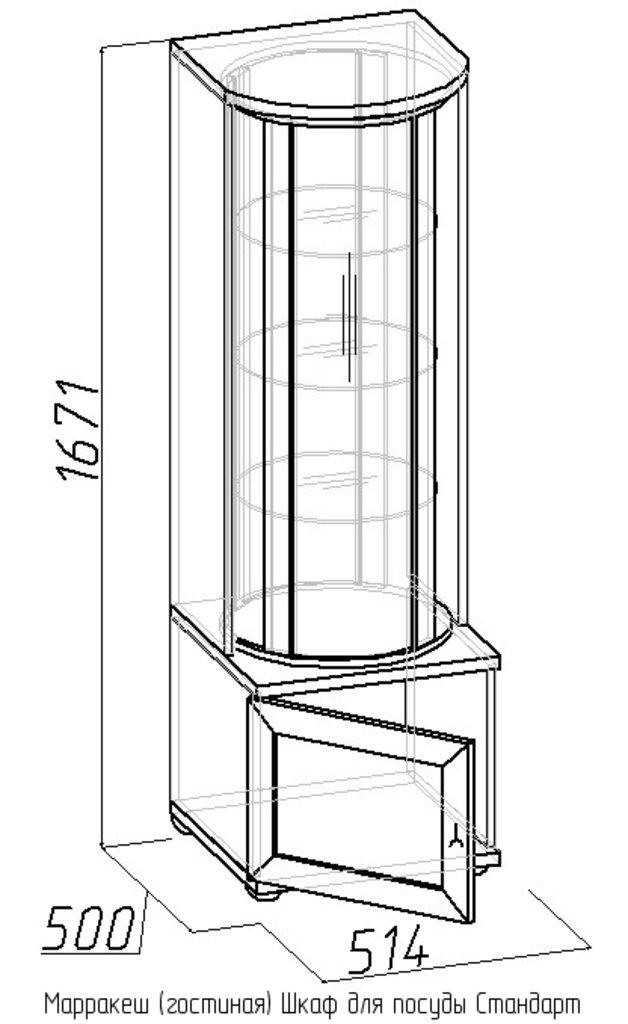 Буфеты и серванты: Шкаф для посуды Стандарт Марракеш в Стильная мебель
