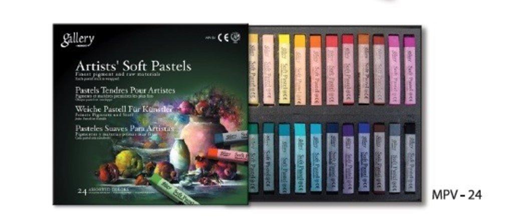 Пастель: Пастель Gallery, soft pastels, 24 цветов в Палитра
